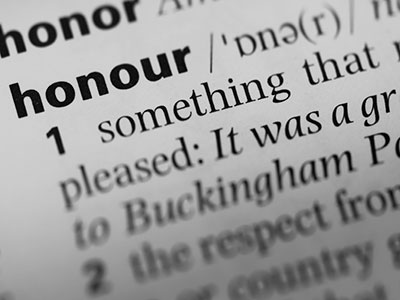 Honour Investigations, the definition of honour.