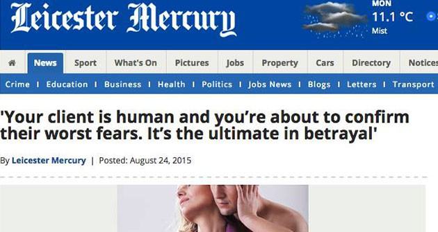 Leicester Mercury Cheating Spouses Beware | Titan Investigations