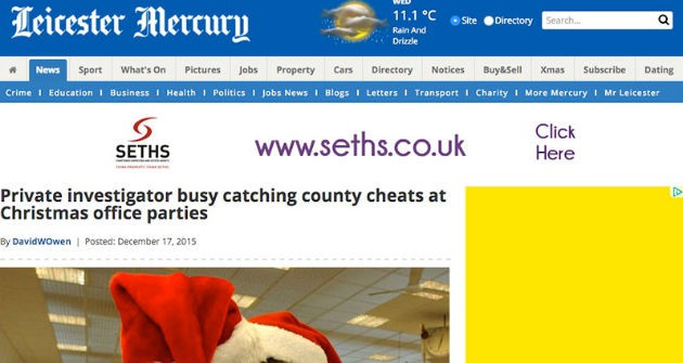 Leicester Mercury Christmas Party Cheats | Titan Investigations