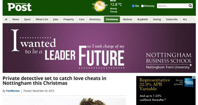 Nottingham Post Christmas Love Cheats | Titan Investigations